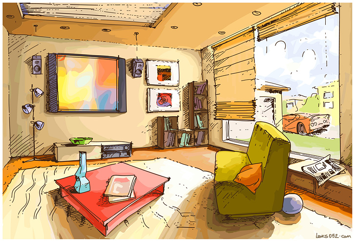 Нарисовать рисунок квартира